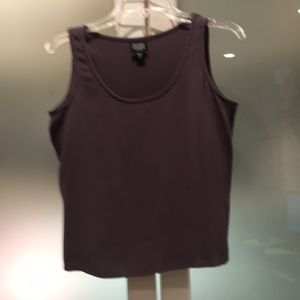 Eileen Fisher Silk Georgette Crepe mauve tank